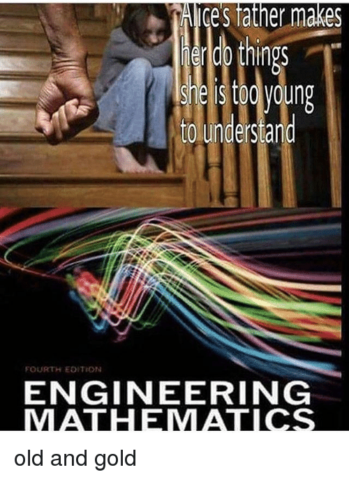 Engineering, Dank Memes, and Old: Ace's  tather  makes  endb things  steis too young  to understand  FOURTH EDITION  ENGINEERING  MATHIEMATICS old and gold