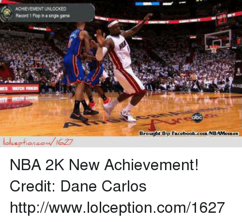 Nba, Nba 2k, and Recorder: ACHIEVEMENTUNLOCKED  Me Record Fopha singe game  lol eption om 1627  Brought By  Faceboolt.com NB NBA 2K New Achievement!