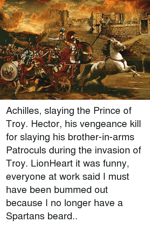 Achilles Slaying the Prince of Troy Hector His Vengeance