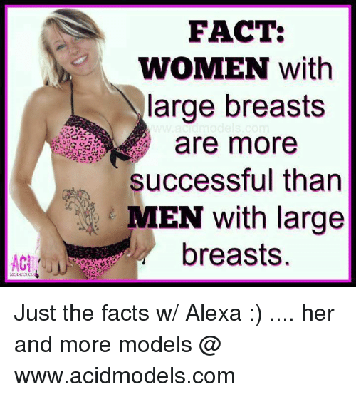 why do guys like large breasts