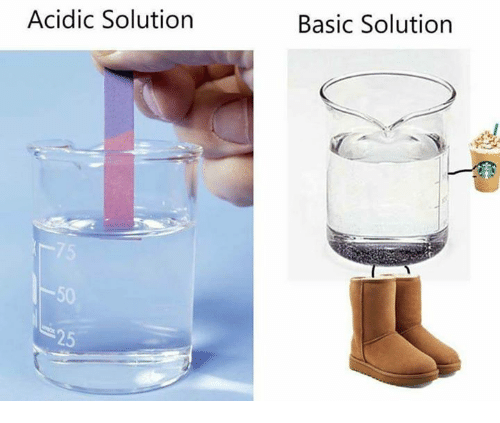 Basic,  Solution, and Basicness: Acidic Solution  Basic Solution  50  25