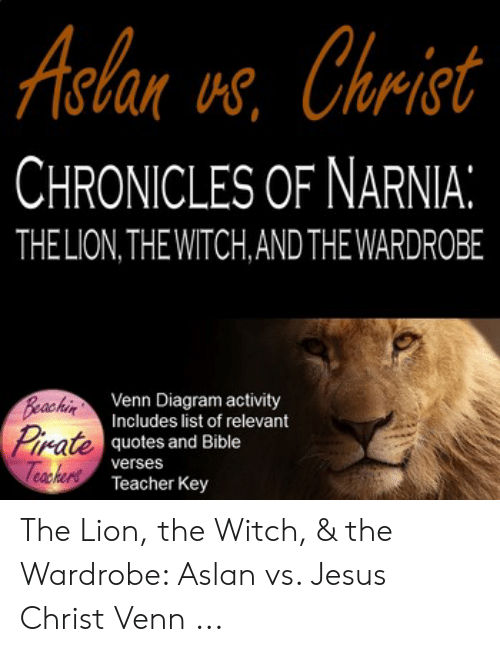 aclan vs christ chronicles of narnia thelion the witchand