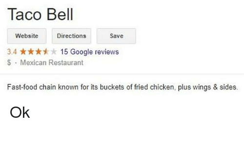 Aco Bell Websitedirections Save 34 15 Google Reviews Mexican
