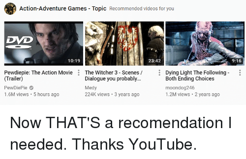 Action-Adventure Games - Topic Recommended Videos for You