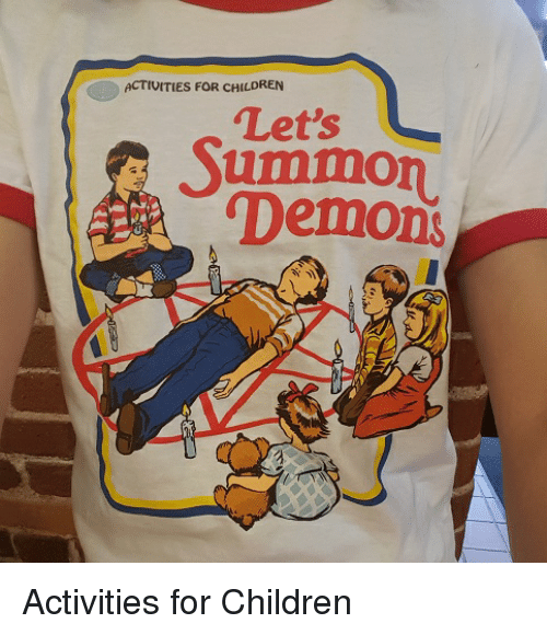 """Children, Funny, and Demons: ACTIVITIES FOR CHILDREN  """"Let's  Summon  Demons Activities for Children"""
