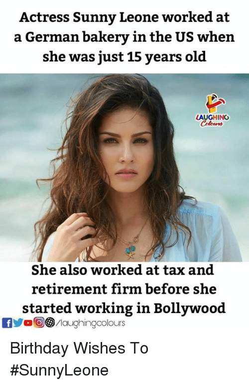 Actress Sunny Leone Worked at a German Bakery in the US When She Was