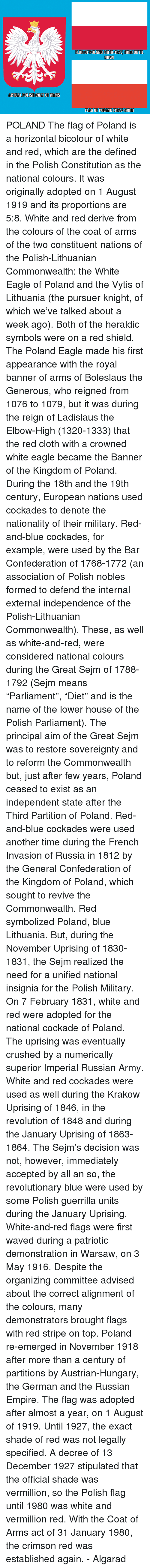 Me meaning of polish flag - Clothes Crush And Dank Actual Polish Coat Of Arms Flag Of Polando1919