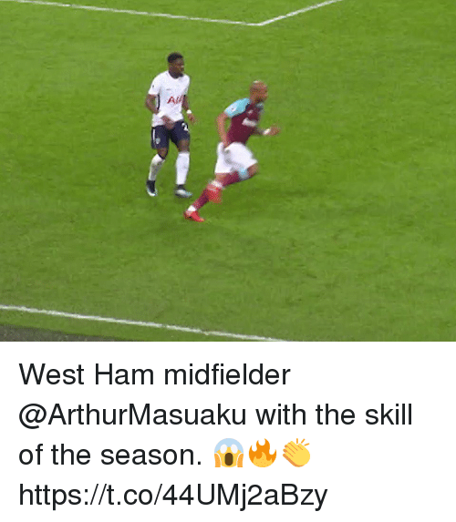 Soccer, Ham, and West Ham: Ad West Ham midfielder @ArthurMasuaku with the skill of the season. 😱🔥👏  https://t.co/44UMj2aBzy