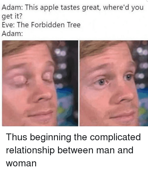 Adam This Apple Tastes Great Where'd You Get It? Eve the Forbidden