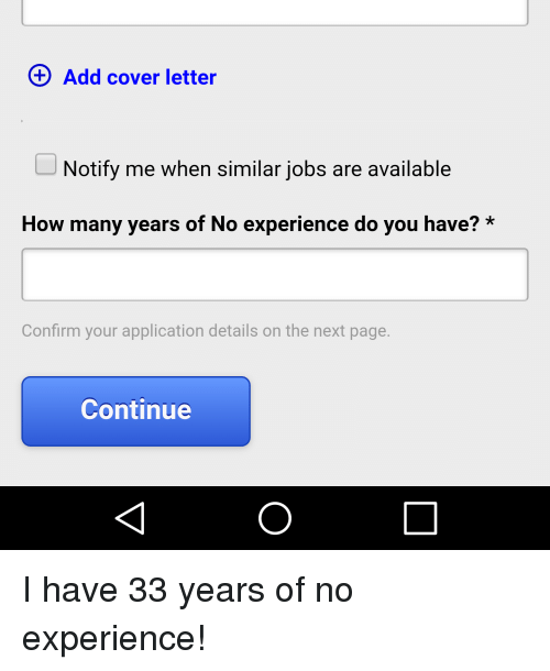 Notify Letter | Add Cover Letter Notify Me When Similar Jobs Are Available How Many