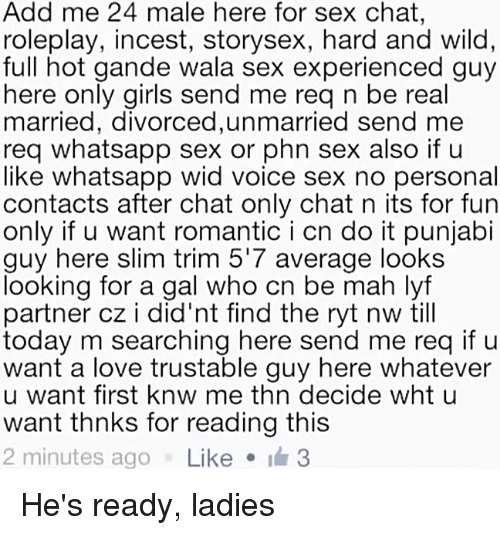 Sex chat text only