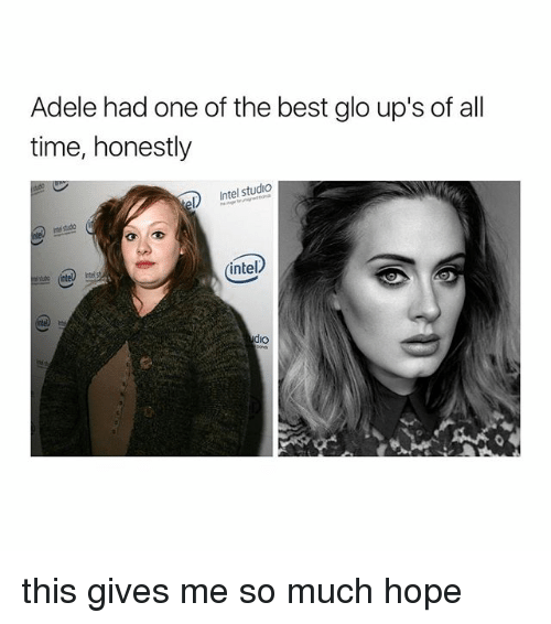 Adele, Ups, and Best: Adele had one of the best glo up's of all  time, honestly  Intel studio  intel  dio this gives me so much hope