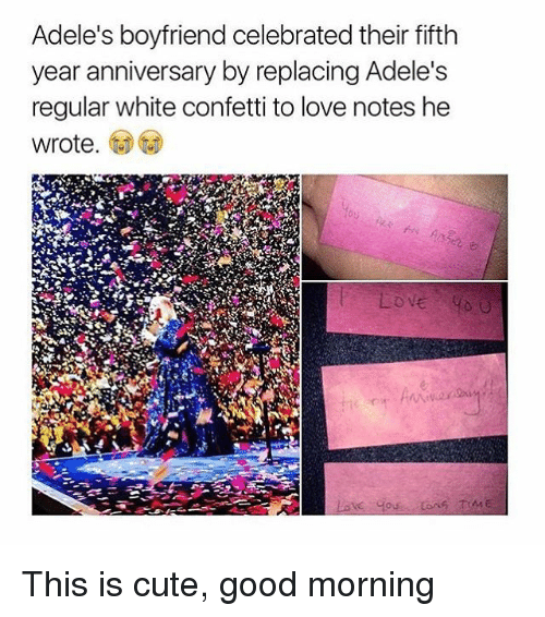 Adeles Boyfriend Celebrated Their Fifth Year Anniversary By