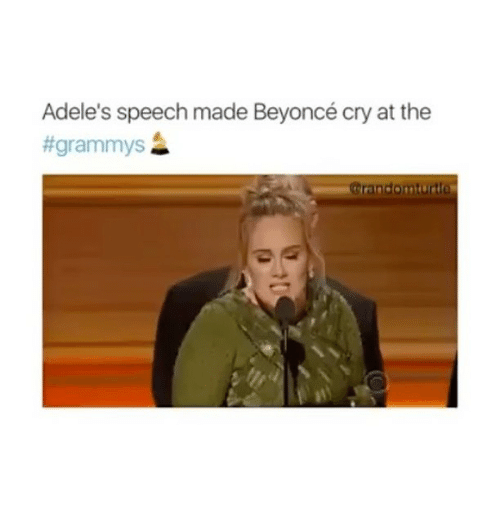 Memes, 🤖, and Adel: Adele's speech made Beyoncé cry at the
