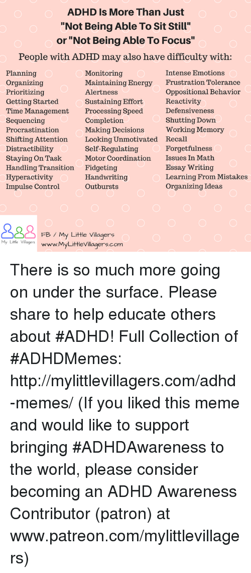 adhd is more than just not being able to sit still or not being  memes 🤖 and speed adhd is more than just not being able