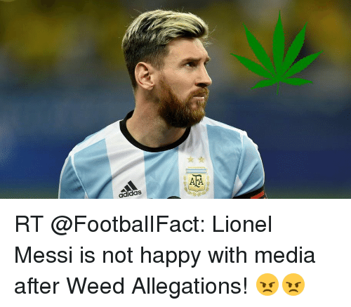 37a1e4cd83eb Adidas a a RT Lionel Messi Is Not Happy With Media After Weed ...