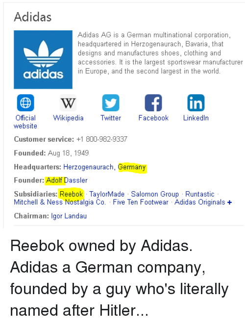 Adidas Adidas AG Is a German Multinational Corporation Headquartered ... 3cb6a9c3fe54d