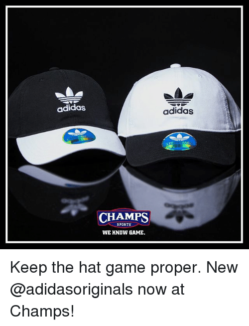 b623b5b501e Adidas Adidas CHAMPS SPORTS WE KNOW GAME Keep the Hat Game Proper ...