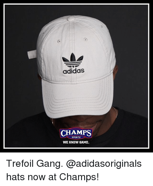 Adidas CHAMPS SPORTS WE KNOW GAME Trefoil Gang Hats Now at Champs ... 47e8cd90782