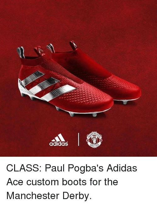 e8decf140f09 Soccer  adidas CHES UNITE CLASS  Paul Pogba s Adidas Ace custom boots for  the Manchester
