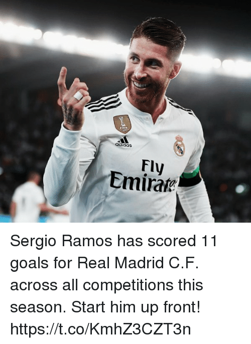 5bfc43f41b9 Adidas Fly Emirate Sergio Ramos Has Scored 11 Goals for Real Madrid ...