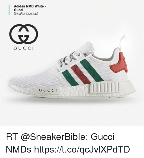Gucci x Adidas NMD R1 PK White Bee Custom from kickonfires .