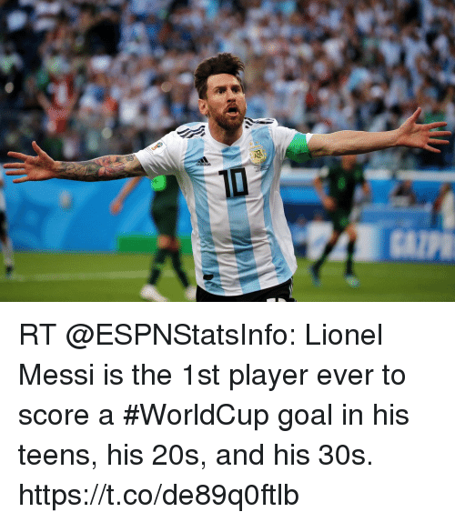 5ea961e015c3 Adidas RT Lionel Messi Is the 1st Player Ever to Score a  WorldCup ...