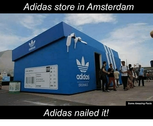 5bb73137d12 Memes, Amsterdam, and 🤖: Adidas store in Amsterdam adidas Some Amazing  Facts Adidas