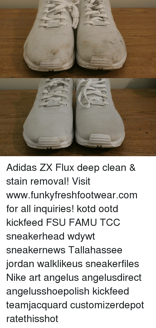 34197f8709d0 Adidas ZX Flux Deep Clean   Stain Removal! Visit ...