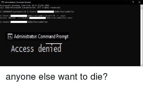 administrator command prompt access denied
