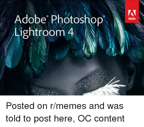 Adobe Photoshop Lightroom 4 Adobe Posted on Rmemes and Was Told to