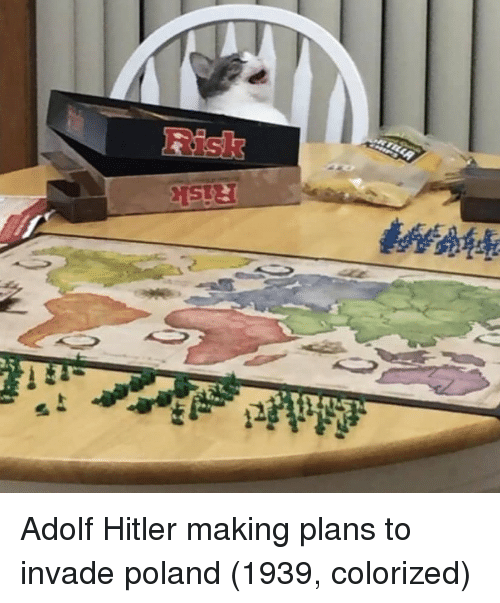 Hitler, Poland, and Adolf Hitler: Adolf Hitler making plans to invade poland (1939, colorized)