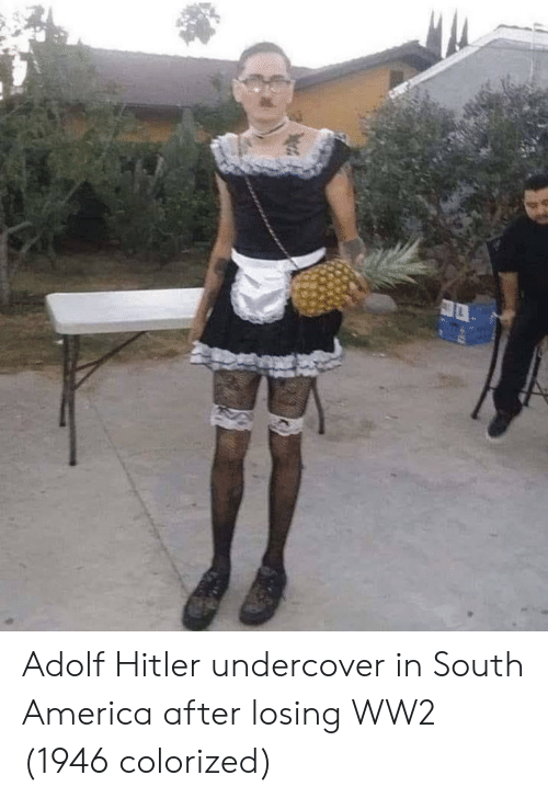 America, Hitler, and Adolf Hitler: Adolf Hitler undercover in South America after losing WW2 (1946 colorized)