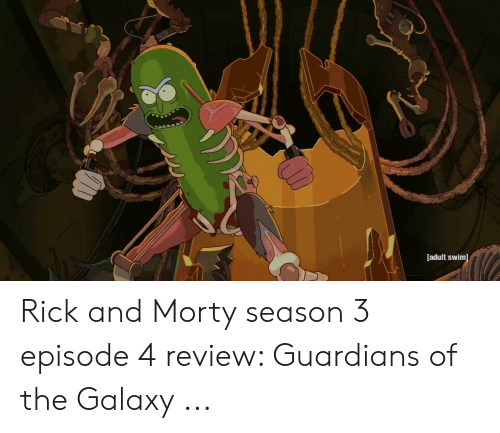 Adult Swim Rick and Morty Season 3 Episode 4 Review