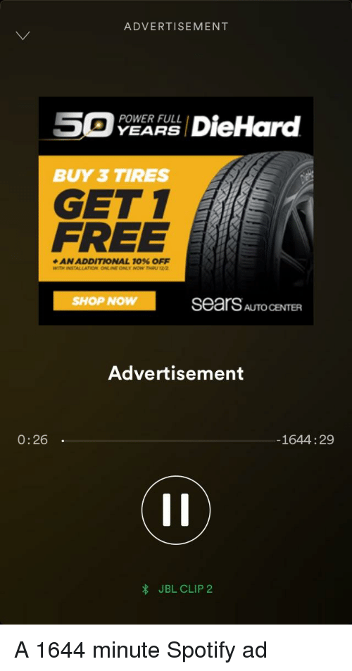 Advertisement 5 Diehard Power Full Buy 3 Tires Get 1 Free An