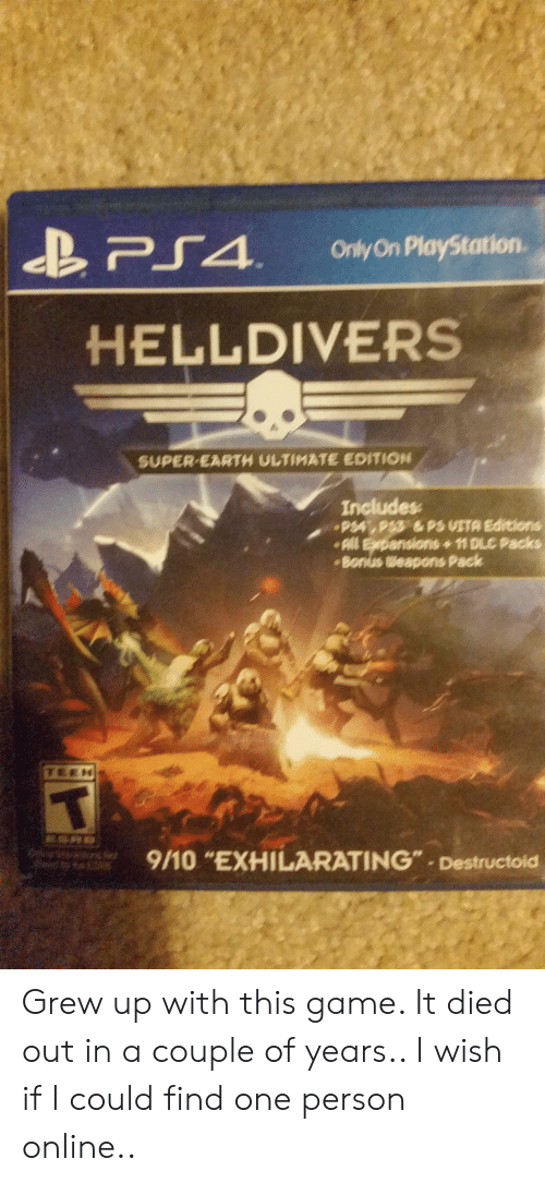 Ae PS4 O OnlyOn PlayStation HELLDIVERS SUPER-EARTH ULTIMATE