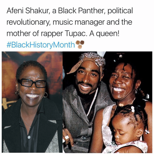 Black History Month, Memes, and Music: Afeni Shakur, a Black Panther, political  revolutionary music manager and the  mother of rapper Tupac. A queen!  #Black History Month