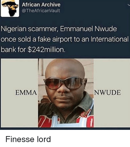 african archive the africanvault nigerian scammer emmanuel nwude once sold 21392423 african archive africanvault nigerian scammer emmanuel nwude once