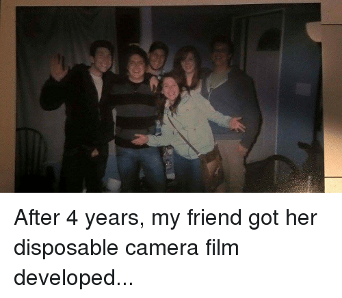 After 4 Years My Friend Got Her Disposable Camera Film Developed