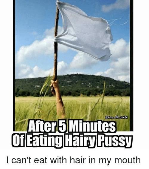 Eating hairy pussie