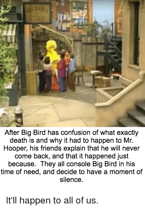 After Big Bird Has Confusion Of What Exactly Death Is And