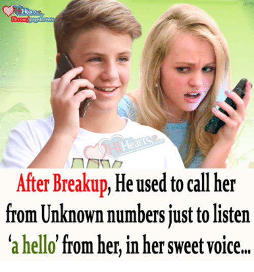 Will he call after break up