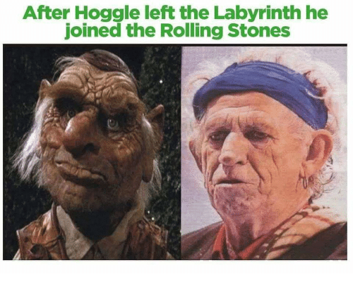 After Hoggle Left The Labyrinth He Joined The Rolling Stones