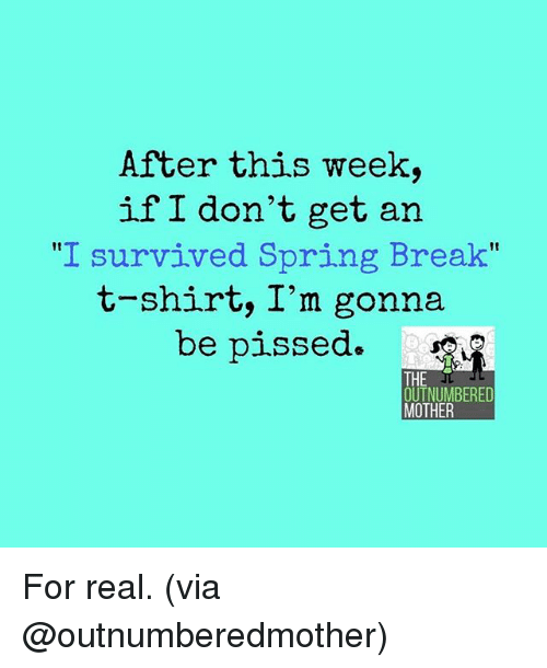 Image result for i survived spring break meme