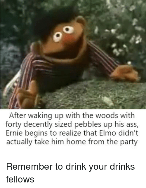 Ass Elmo And Party After Waking Up With The Woods With Forty Decently