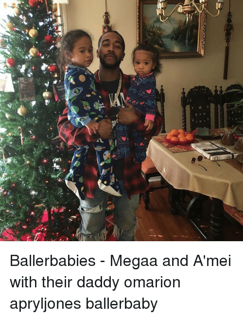 Memes, Omarion, and 🤖: age  괏  L鳶 Ballerbabies - Megaa and A'mei with their daddy omarion apryljones ballerbaby
