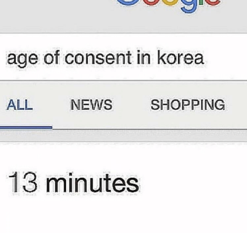 the age of consent in korea