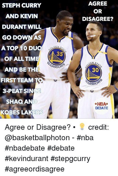 1229360b963 AGREE OR DISAGREE  STEPH CURRY AND KEVIN DURANT WILL GO DOWN AS ATOP ...