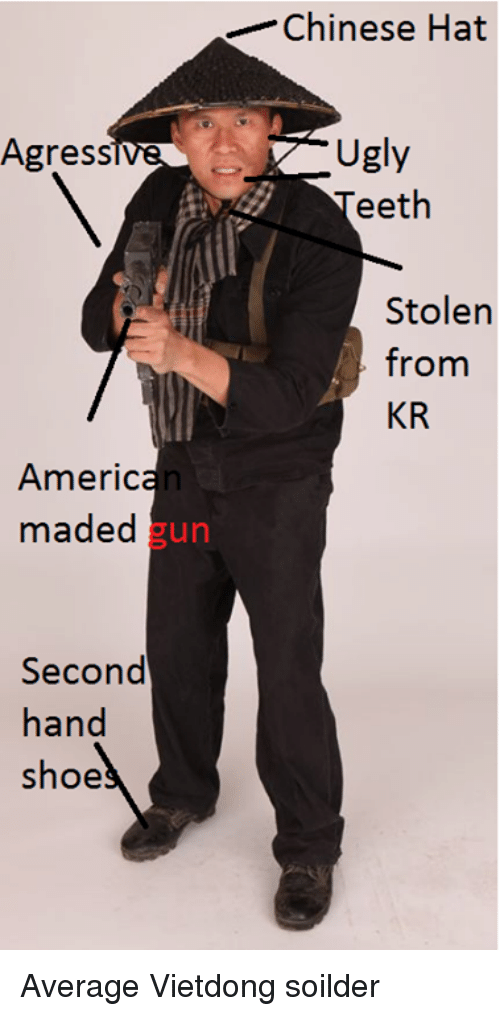 Agress Americ Maded Gun Second Hand Shoe Chinese Hat Ugly Eeth
