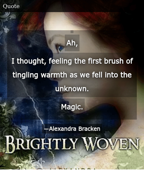 SIZZLE:  Ah, I thought, feeling the first brush of tingling warmth as we fell into the unknown. Magic.